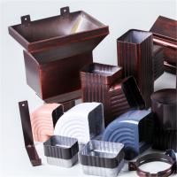 德峰建材PVC彩色方形落水管 铝合金下水管 金属集水槽安装指导
