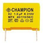 全鹏CHAMPION厂家直销 薄膜电容器MPX X2 1.0μF K 310V 批发X2安规电容器