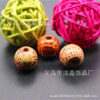 厂家直销咖色圆形佛珠串珠材料 颜色规格可定制 6-20mm混色混批