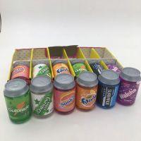 迷你饮料罐水晶泥6色罐装汽水水晶彩泥儿童轻黏土彩色泥韩版玩具