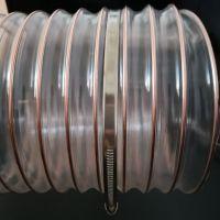 pu工业吸尘软管(耐磨透明防腐蚀)粉尘车间专用聚氨酯镀铜钢丝伸缩抽吸软管180*0.9mm