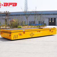 车间运货轮胎式平板车 大型设备转运电动无轨平台车搬运车可订做
