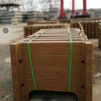 中达厂家专业制造水泥仿木组合式落地景观花箱