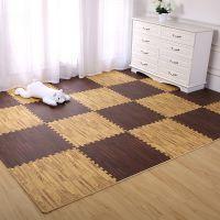 星期八泡沫地垫卧室拼接垫子家用地板垫加厚儿童爬行垫木纹地毯