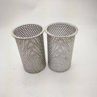 定做304不锈钢多孔圆筒222 226接口 柴油底过滤滤网不锈钢筒包邮