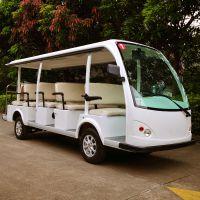 安步优品ABLQY140A白色经典14座电动观光车景区电瓶车机场电瓶摆渡车社区便民车