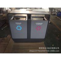 钣金标识标牌加工厂订制市政街道垃圾桶 小区垃圾桶 公园垃圾桶