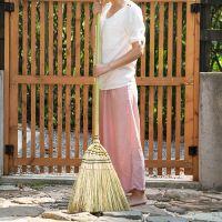 一件代发艺之初 日式庭院扫把 长柄高粱大扫帚 户外竹扫把 扫落叶