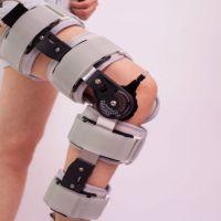 可调膝关节支具 长短可调式 膝盖损伤骨折康复护具 白色