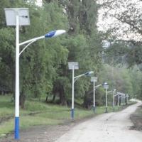 挑臂道路照明太阳能路灯