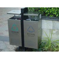 环卫垃圾箱图片 学校钢制垃圾桶 校园分类垃圾桶报价明细