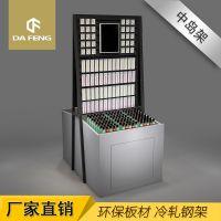 双面精品饰品货架化妆品彩妆展示架钢艺框架环保免漆板饰品柜