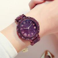 热卖梦幻紫色带钻手链手表女休闲大气满钻女表韩版女士装饰时装表