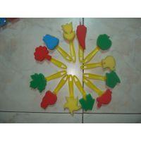 批发儿童海绵刷DIY玩具手工用品