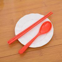 现货直销儿童餐勺筷子套装 批发餐桌礼仪密胺勺子筷子刀叉勺套装