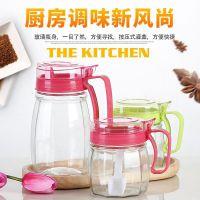 厂家直销直销厨房用品玻璃调味罐 油壶套装批发定制 玻璃罐套装