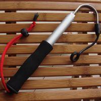 伸缩式迷你搭钩不锈钢铝合金钩鱼工具冰钓钓鱼用品 三节鱼钩渔具