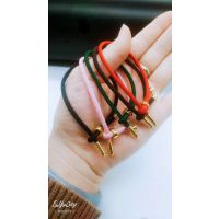 3D手绳皮绳苹果羊皮绳 钛金手链硬金手绳2018红绳圣诞活动礼品