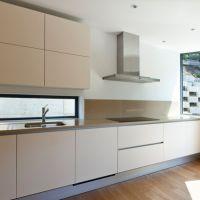 全屋定制工厂 简约橱柜整体定制厨房橱柜门板 石英石不锈钢台面