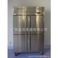 伊碟高档厨房设备 不锈钢厨房冰柜 四门冰箱商用 高身雪柜 风冷