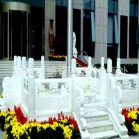 供应优质 汉白玉 石雕栏板 栏杆 升旗台 广场单位 石雕摆件