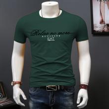 广东东莞时尚男式T恤夏季新款纯棉圆领套头t恤短袖青年男装打底衫2元摆地摊