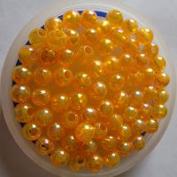 供应直销14MM大孔亚克力透明珠  /水晶珠子 质量保证