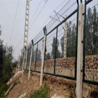 铁路桥下防护栅栏 高铁金属网片价格 多少钱一米线路封闭网