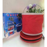 直销洗车水桶钓鱼桶折叠水桶 户外水桶可以印广告oPP袋包装 厂家