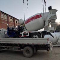 干料生料混凝土搅拌车,1.8立方水泥搅拌运输车价格,三轮商混搅拌车