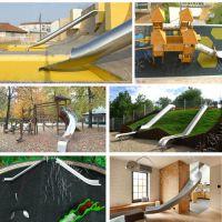 户外儿童游乐设备 不锈钢滑梯 商场不锈钢螺旋滑梯 儿童木质拓展设施 北京同兴伟业直销定制