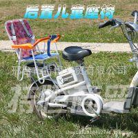 电动车儿童座椅自行车后置座椅电动车儿童安全座椅折叠快拆座椅