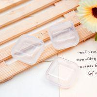 正方形塑料盒子小号迷你透明有盖产品包装盒饰品戒指耳钉收纳盒