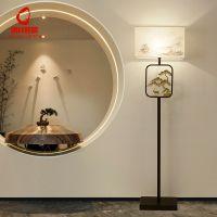 创意新中式LED落地灯古典简约酒店客房装饰台灯客厅卧室落地台灯