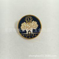 金属徽章定制企业周年纯金高档纪念胸章胸针创意订制 免费设计