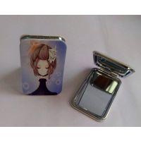 北京广告化妆镜子订做/双面镜子批发金属小镜子制作