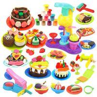 儿童3d彩泥橡皮泥豪华快餐中心模具工具套装像皮泥轻粘土DIY玩具