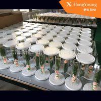 居家装饰工艺品摆件欧莱雅化妆品展示架道具亚克力花瓶透明圆管