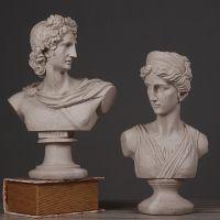 北欧简约砂岩阿波罗头像雕塑欧式创意人物雕像工艺品摆件美术用品