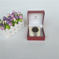 厂家直销荔枝纹手表盒翻盖充皮仿皮盒翻盖礼品包装盒饰品包装盒