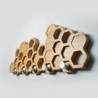 xiongxing熊兴简约创意个性竹子原木纹玄关钥匙挂钩壁挂收纳