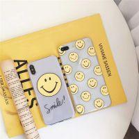 iphoneX黄色笑脸表情包手机壳全包透明软壳防摔情侣保护套英文6s