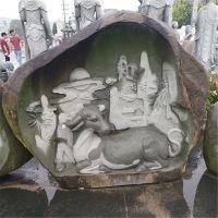 厂家直销岩洞动物浮雕 十二生肖沉雕工艺品 公园广场景观雕塑