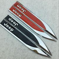 吉普车身贴JEEP锋刃叶子板标 R车标 高尔夫侧标 金属改装车贴