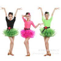 新款少儿拉丁舞服装女童比赛考级练功服女孩舞蹈服儿童拉丁舞裙