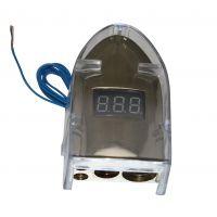 高品质汽车电瓶夹头0 2 4 8GA 正极汽车改装用品镀金SKBT-023G