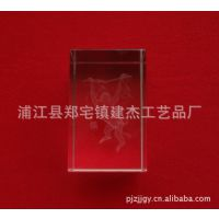 批发供应水晶内雕工艺品  水晶十二生肖  水晶猴  水晶内雕猴