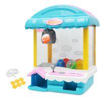 迷你抓娃娃机玩具 儿童小型家用投币夹公仔抓糖果电动游戏机