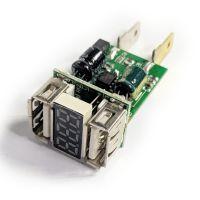新款QC3.0快充带数显双USB车载充电器PCBA线路板 汽卡摩36V/24V/12V转5V电源裸板