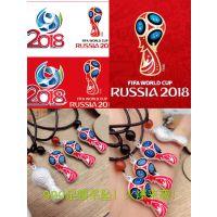 速卖通热卖2018俄罗斯足银欧美足球世界杯大力神杯纪念品吊坠项链